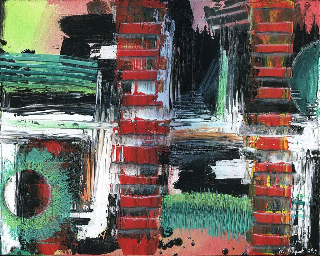 Wardell Picquet Studios, Acrylic painting